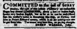 Nov 9 - Virginia Gazette Purdie and Dixon Slavery 16