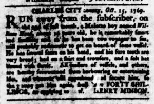 Nov 9 - Virginia Gazette Rind Slavery 10