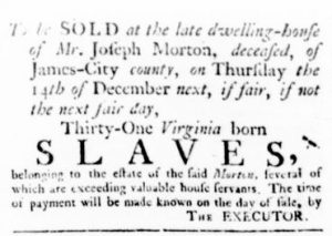 Nov 9 - Virginia Gazette Rind Slavery 2