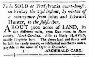 Nov 9 - Virginia Gazette Rind Slavery 3