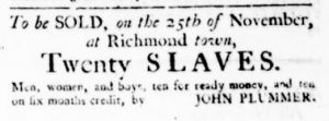 Nov 9 - Virginia Gazette Rind Slavery 6