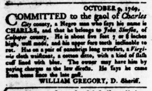 Nov 9 - Virginia Gazette Rind Slavery 7