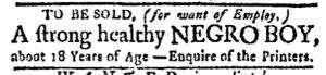 Dec 11 - Boston Evening-Post Slavery 1