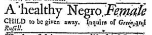 Dec 11 - Massachusetts Gazette and Boston Post-Boy Slavery 1