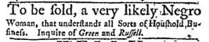 Dec 11 - Massachusetts Gazette and Boston Post-Boy Slavery 2
