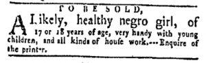 Dec 11 - New-York Gazette and Weekly Mercury Slavery 3
