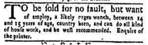Dec 11 - New-York Gazette and Weekly Mercury Slavery 4