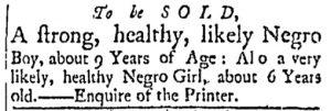Dec 12 - Essex Gazette Slavery 1