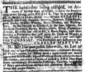 Dec 14 - South-Carolina Gazette Slavery 2