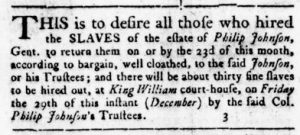 Dec 14 - Virginia Gazette Rind Slavery 2