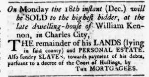 Dec 14 - Virginia Gazette Rind Slavery 3