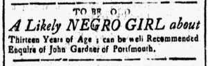Dec 15 - New-Hampshire Gazette Slavery 1