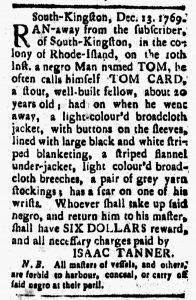 Dec 15 - New-London Gazette Slavery 1