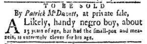 Dec 18 - New-York Gazette and Weekly Mercury Slavery 2