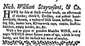 Dec 18 - New-York Gazette and Weekly Mercury Slavery 4