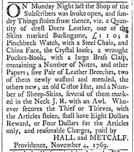 Dec 2 - 12:2:1769 Providence Gazette