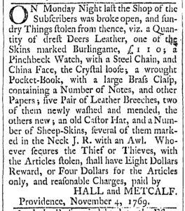 Dec 2 - 12:2:1769 Providence Gazette