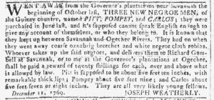 Dec 20 - Georgia Gazette Slavery 7