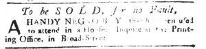 Dec 21 - South-Carolina Gazette Slavery 1
