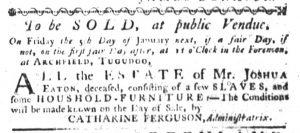 Dec 21 - South-Carolina Gazette Slavery 7