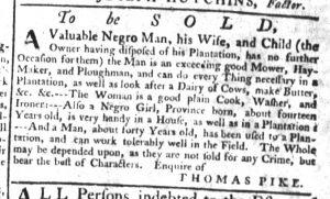 Dec 21 - South-Carolina Gazette Supplement Slavery 1
