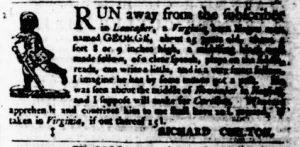 Dec 21 - Virginia Gazette Purdie and Dixon Slavery 1