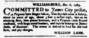 Dec 21 - Virginia Gazette Purdie and Dixon Slavery 4