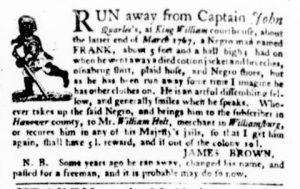 Dec 21 - Virginia Gazette Purdie and Dixon Slavery 5