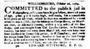 Dec 21 - Virginia Gazette Purdie and Dixon Slavery 6
