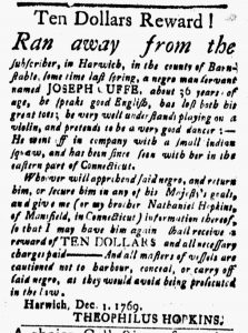Dec 22 - New-London Gazette Slavery 1