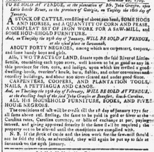 Dec 27 - Georgia Gazette Slavery 2