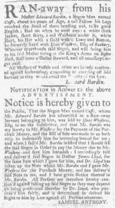 Dec 28 - 12:28:1769 Advert 1 Massachusetts Gazette and Boston Weekly News-Letter