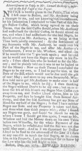 Dec 28 - 12:28:1769 Advert 2 Massachusetts Gazette and Boston Weekly News-Letter