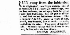 Dec 28 - Virginia Gazette Purdie and Dixon Slavery 3