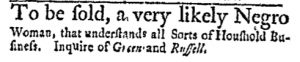 Dec 4 - Massachusetts Gazette and Boston Post-Boy Slavery 2