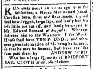 Dec 4 - South-Carolina and American General Gazette Slavery 1
