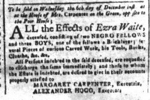 Dec 4 - South-Carolina and American General Gazette Slavery 2