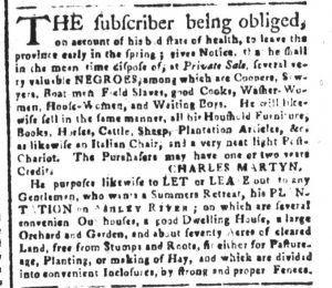 Dec 4 - South-Carolina and American General Gazette Slavery 3