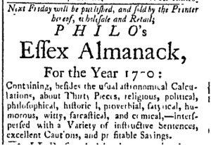 Dec 5 - 12:5:1769 Essex Gazette