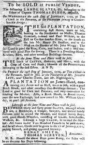 Dec 7 - South-Carolina Gazette Slavery 3