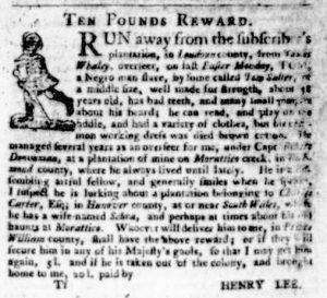 Dec 7 - Virginia Gazette Purdie and Dixon Slavery 11
