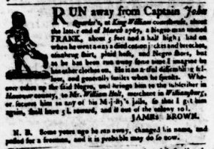 Dec 7 - Virginia Gazette Purdie and Dixon Slavery 4