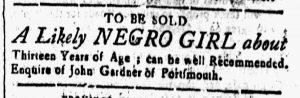 Dec 8 - New-Hampshire Gazette Slavery 1