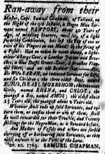 Dec 8 - New-London Gazette Slavery 2