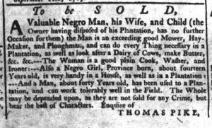 Dec 8 - South-Carolina Gazette Supplement Slavery 3