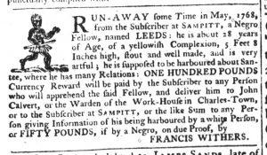 Dec 8 - South-Carolina Gazette Supplement Slavery 4