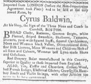 Jan 1 1770 - 1:1:1770 Boston-Gazette