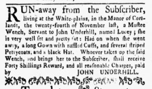 Jan 1 1770 - New-York Gazette and Weekly Mercury Slavery 4