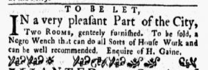 Jan 1 1770 - New-York Gazette and Weekly Mercury Slavery 6