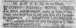 Jan 1 1770 - Newport Mercury Slavery 1